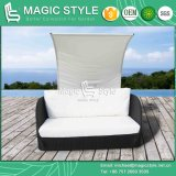 Leisure Rattan Salon avec parasol Patio Wicker Chaise Lounge Outdoor Lounge (style magique)