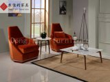 Софа домашнего стула бархата отдыха мебели гостиницы красного одиночная