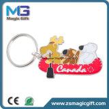 A fábrica de China Keychain fêz o cão personalizado Keychain dos desenhos animados do metal