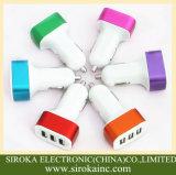알루미늄 3 3배 USB 셀룰라 전화 차 충전기