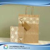 Sacchetto impaccante di acquisto di alimento della carta kraft del Brown (Xc-bgk-006)