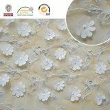 Tessuto bianco C10013 del merletto del fiore solido