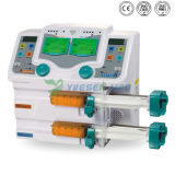 Yszs-810tの医学のポータブルICUの薬剤ライブラリ電気二重スポイトの注入ポンプ