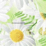 100%Polyester druckte weiße Sonnenblume Pigment&Disperse Gewebe für Bettwäsche-Set