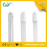 3000k T8 600mm 10W Tubo de iluminação LED de vidro (CE RoHS)