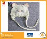 小さい赤ん坊の猫によって編まれる帽子