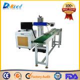 Máquina en línea de la marca del laser del vuelo de la nueva de 10W 20W fibra del CNC