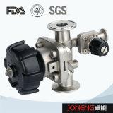 Válvula de diafragma higiénica de la parte inferior del tanque del acero inoxidable (JN-DV1008)
