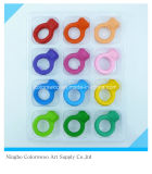 60g 12PCS 3D Plastic Crayons for Students and Kids