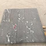 Granito nero con le vene bianche di colore (lucidato, fiammeggiato, spazzolato, Bush ha martellato ecc)