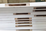 4水平の溝の白いラッカーフラッシュ内部の木のドア(木製のドア)