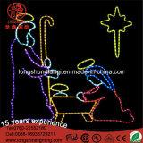 Luz de la cuerda del LED 110V natividad escena 2D del adorno para la decoración de Navidad