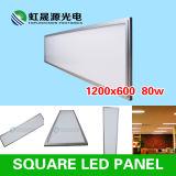Luz del panel del plano 1200X600m m 80W LED del techo suspendido con el marco de aluminio