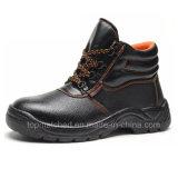 Sapatas de trabalho protetoras da segurança do couro de sapatas do funcionamento da injeção do plutônio do ESD dos calçados da segurança com o tampão de aço do dedo do pé para homens