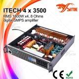 Amplificador profissional do poder superior das canaletas da classe HD 4 da Eu-Tecnologia 4X3500