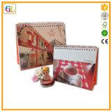 Calendrier de papier estampé par coutume (OEM-GL-007)