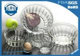 고품질 투명한 유리제 사라다 그릇