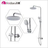 Durable Brass Chrome Plated Single Handle Rain Shower Mixer Faucet
