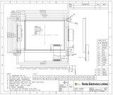 écran LCD graphique de 320X240 MCU, Sdn8080g, 20pin, pour la position, sonnette, médicale, véhicules