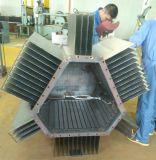 変流器の波形のひれの生産ライン