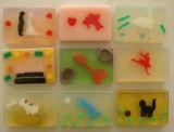De natuurlijke Met de hand gemaakte Transparante Zeep van het Stuk speelgoed voor Kinderen
