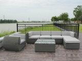 Aluminio redondo ratán Sofá Muebles de jardín al aire libre para la Feliz Navidad