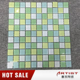 25 * 25 Baño Verde Piscina Mosaico autoadhesivo de vidrio