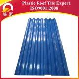 Toiture ondulée de construction de PVC de plastique