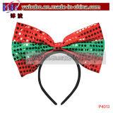Costumi di Cosplay di natale delle fasce del Sequin dell'arco degli elementi del partito (P4013)