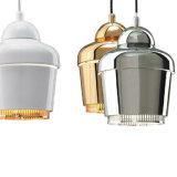 Самомоднейший просто светильник Haning светлый алюминиевый привесной