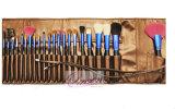 Щетка комплекта щетки состава Ferrule 22PCS красотки вспомогательная глянцеватая голубая косметическая