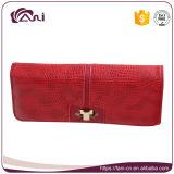 Guangzhou mujer cartera fabricante, rojo señora bolsa de cuero de la PU