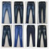Серые тощие джинсыы с застежками -молниями для девушок (121-G307)