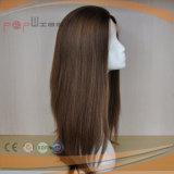 Perucas judaicas do laço da parte dianteira do cabelo humano do estilo 100% da peruca da parte alta da qualidade superior