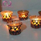 高品質のモザイク・ガラスのTealightの蝋燭ホールダーの蝋燭のコップ