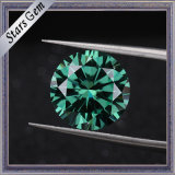 1 diamante di Moissanite di colore verde di carati 6.5mm