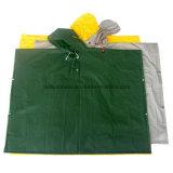 Het Kostuum van de Regen van de camouflage voor Hinking met Kap