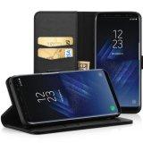 Galaxia de cuero S8 de Casefor Samsung del teléfono de la carpeta