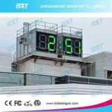 """64"""" de alto brillo Jumbo / gigante al aire libre impermeabilizan la muestra del reloj LED de tiempo / temperatura Display"""