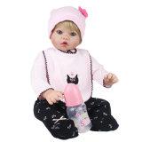 младенец силикона 55cm заново родившийся - кукла ягнится подарок товарища по играм для девушок