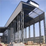 Atelier léger préfabriqué de structure métallique avec la grue de crochet d'Overheaded