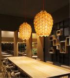 호텔 대중음식점을%s 자연적인 나무로 되는 가벼운 펀던트 램프