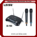 Ls-163 de Draadloze Microfoon van de Karaoke VHF van dubbel-kanalen