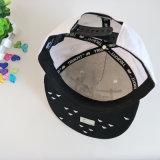 Casquillo negro/blanco del Snapback del algodón del bordado 3D