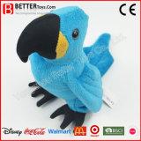Brinquedo enchido realístico do Macaw do luxuoso do pássaro