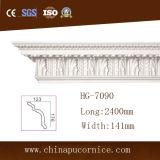 moldeado material del poliuretano similar hermoso del yeso de la cara grande de la anchura de los 35.8cm