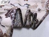 Tessuto fragile del jacquard 2016 con i bei fiori (FTH32058)