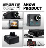 Sport HD 4k DV 2.0 ' de Actie DV van de AntiFunctie van de Schok van de gyroscoop de Ultra van de Sport DV van Ltps LCD WiFi