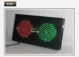 vert rouge en aluminium de 200mm feu de signalisation personnalisé 8 par pouces de DEL