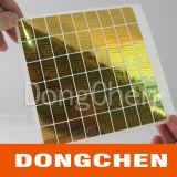 Стикер лазера золотистой пустой обеспеченностью голографический